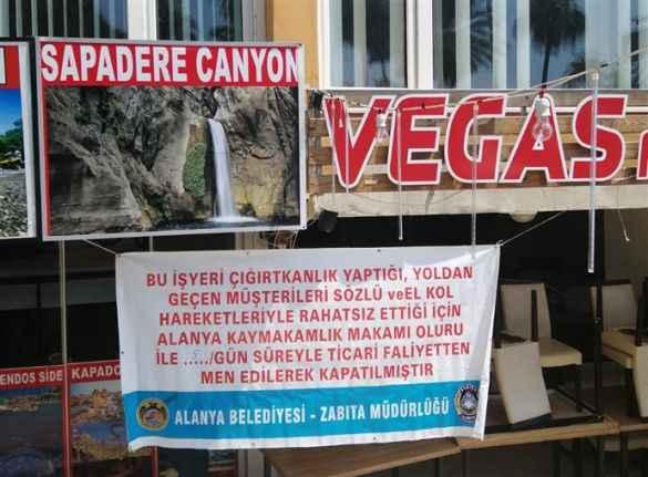 Alanya'da 6 işletme 'çığırtkanlık' nedeniyle kapatıldı!