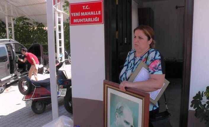 Antalya'da kadın muhtar sonunda pes etti, binayı boşalttı