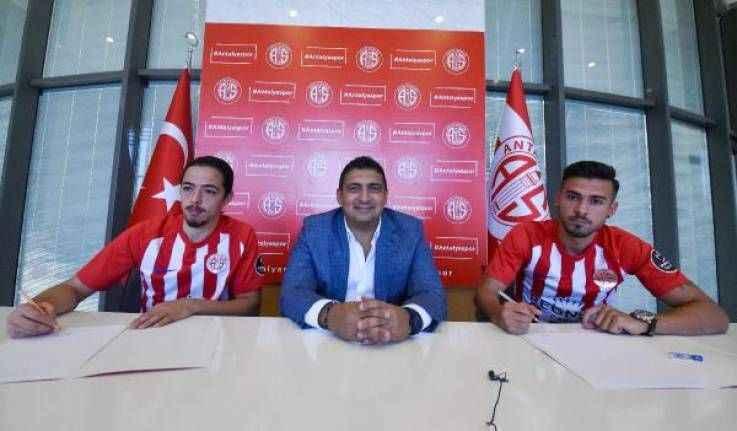 Antalyaspor Harun ve Ufuk ile sözleşme imzaladı