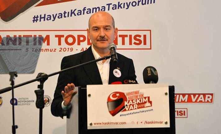 Bakan Soylu Antalya'da tanıttı: 'Hayatıma Kastım yok, Kaskım Var'