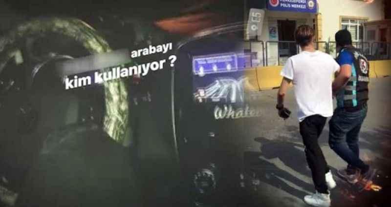 İstanbul'da diziyle otomobil kullanan maganda yakalandı