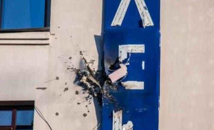 Ukrayna'da televizyon binasına bomba atarla saldırıldı
