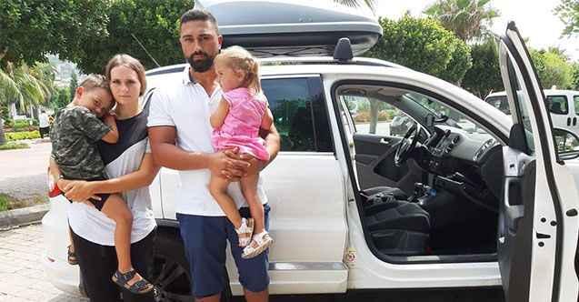 Alanya'ya tatile gelen gurbetçiler hırsıza seslendi