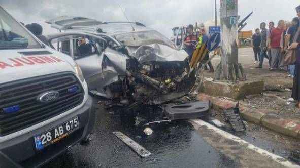 Giresun'da feci kaza! 3 ölü 1 yaralı
