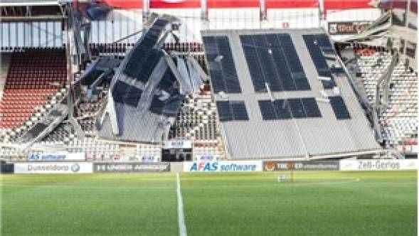 Avrupa ekibi şokta! Stadın çatısı çöktü