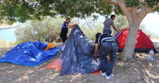 Kaş'ta çadır operasyonu