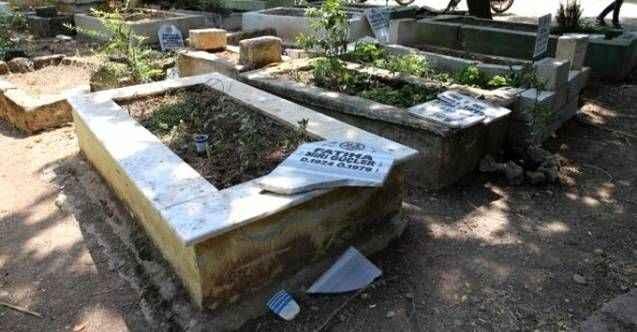 Tehlikeli mezar provokasyonunda 6 gözaltı