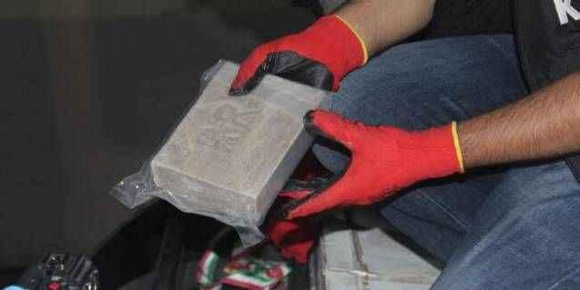 Gürbulak'ta 234 kilo eroin ele geçirildi