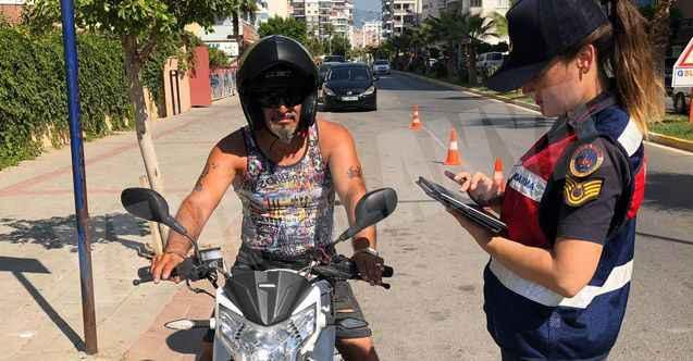 Alanya'da jandarmadan motosiklet uygulaması