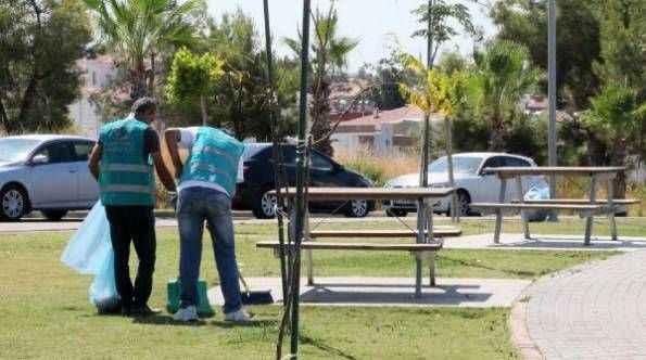 Manavgat'ta hükümlüler temizlik yaptı