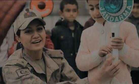 Jandarmadan kadın personel için özel klip