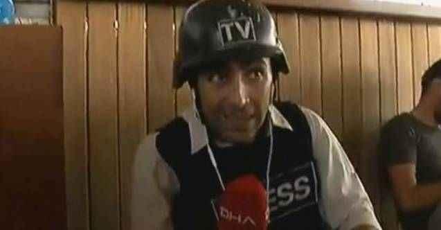 Gazetecilerin bulunduğu alana teröristlerden saldırı! 2 yaralı var