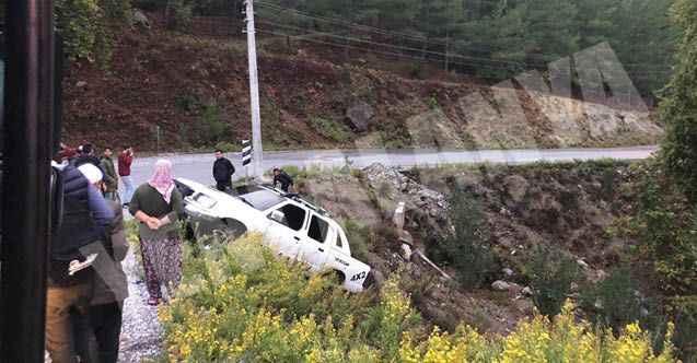 Alanya'da ıslak yol kazaya neden oldu: Faciadan dönüldü