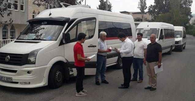 Alanya'da servis araçlarına güzergah belgesi dağıtıldı