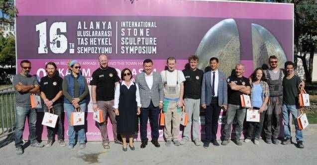 16.Alanya Uluslararası Taş Heykel Sempozyumu Başladı