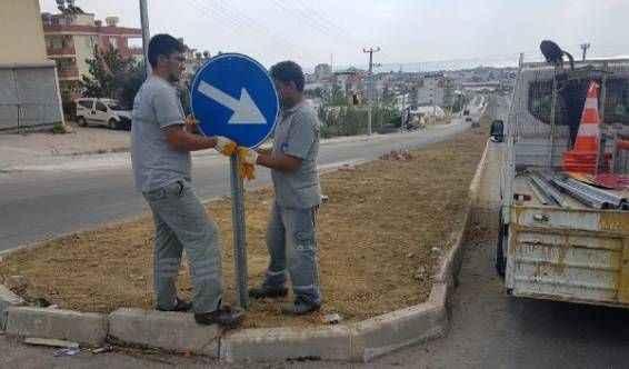 Büyükşehir'den Alanya'da levha çalışması