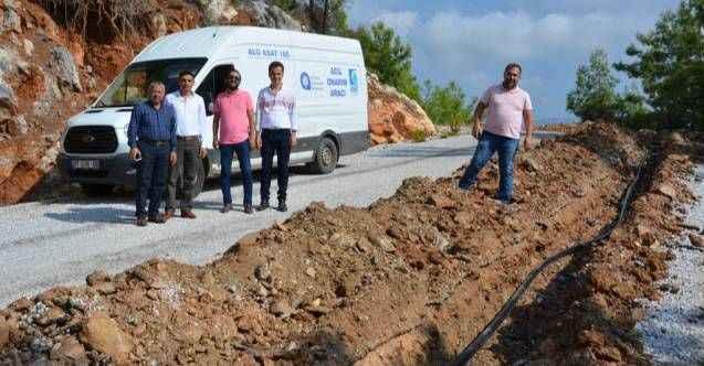 Alanya'da mezarlıkta su sorunu bitti