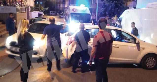 Alanya'da otomobil motosiklete çarptı