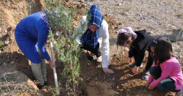 Gazipaşa'da 820 fidan toprakla buluştu