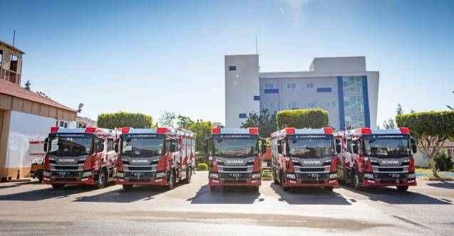 Büyükşehir İtfaiyesine yüksek teknolojiye sahip 5 yeni araç alındı
