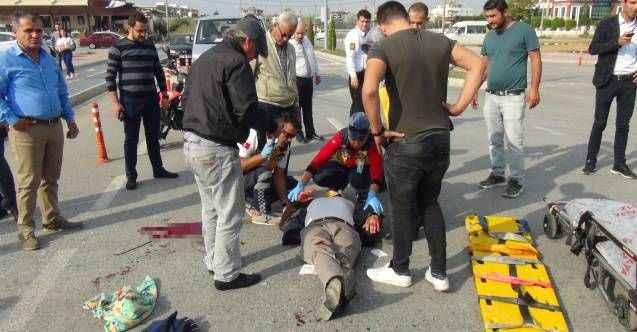 Manavgat'ta kasksız motosiklet sürücüsü ölümden döndü