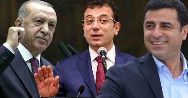 AK Parti anketinde dikkat çeken sonuç! İmamoğlu ve Demirtaş sürprizi