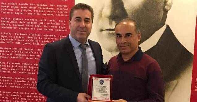 Manavgat Emniyet Müdürü Özgönül'den, Gazipaşa Emniyet Müdürü Akbıyık'a plaket