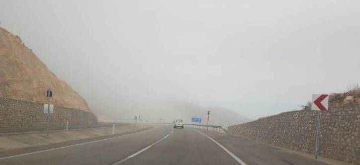 Korkuteli- Elmalı yolunda yoğun sis