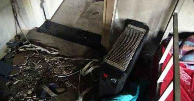 Manavgat'ta fişte takılı bırakılan elektrikli ısıtıcılar yangına sebep oldu