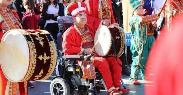 Alanya'da Dünya Engelliler Günü'ne özel mehteran