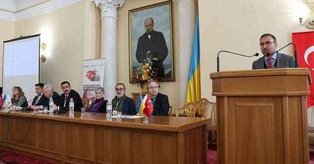 Milli şair Kiev'de anıldı, anma programına ALKÜ Rektörü Kalan da katıldı