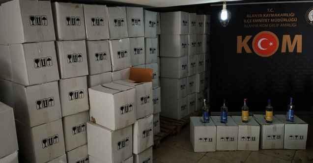 Alanya'da KOM'dan yılbaşı öncesi kaçak içki operasyonu