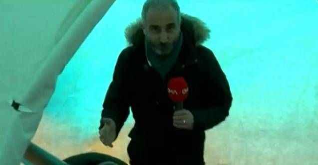 CNN Türk muhabirine tepki yağıyor: Sıcacık çadırlarında mutlular