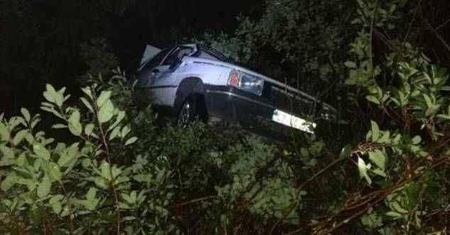 Gazipaşa'da otomobil şarampolden uçtu: 2 yaralı