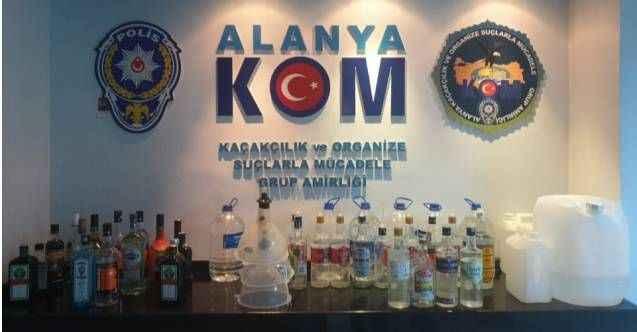 Alanya'da otellere 'Kaçak ve sahte' içki baskını