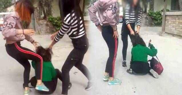 Çete kuran 3 genç kız, sokak ortasında dehşet saçtı