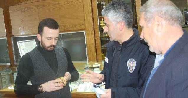 Manavgat'ta vatandaşın yolda bulup polise teslim ettiği bilezikler sahte çıktı