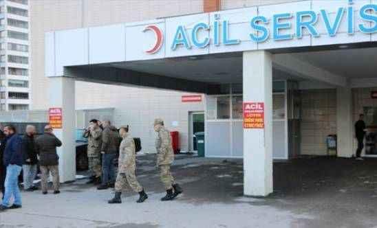 Tüfeği kaza ile ateş alan asker yaralandı