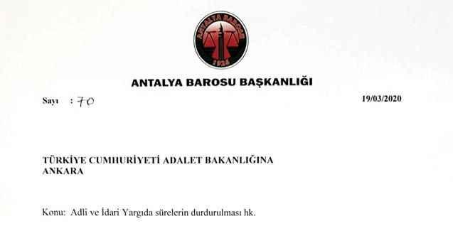 74 barodan Adalet Bakanlığı'na başvuru