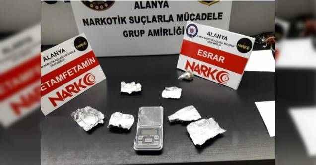 Alanya'da uyuşturucu tacirleri polise takıldı