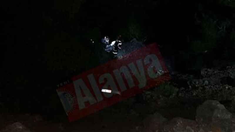 Alanya yaylasında feci kaza: 1 ölü, 1 yaralı