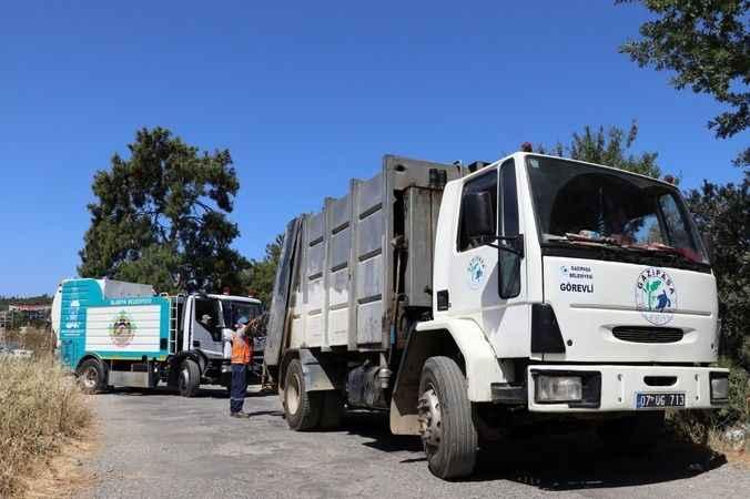Gazipaşa'nın çöplerini Alanya dezenfekte ediyor