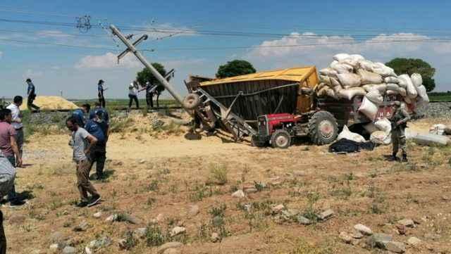 Kan donduran kaza: Tren traktörü biçti