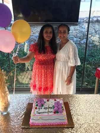 Alanya'da ikizlere çifte kutlama