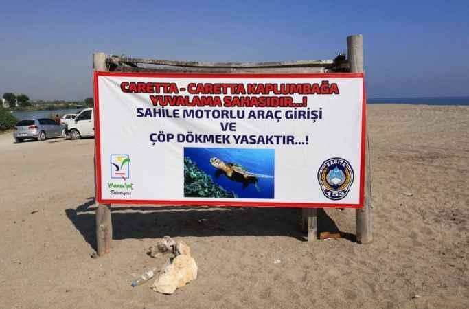 Manavgat Belediyesi caretta yuvalarında tedbiri arttırdı