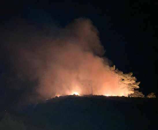 Kaş'ta orman yangını büyümeden söndürüldü