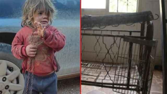 Babasının zincirlediği çocuk, günlerce aç kaldıktan sonra hızlı yemek yerken öldü