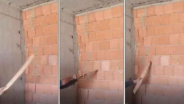 İnşaat işçisi çektiği video ile yapılan ihmali gözler önüne serdi