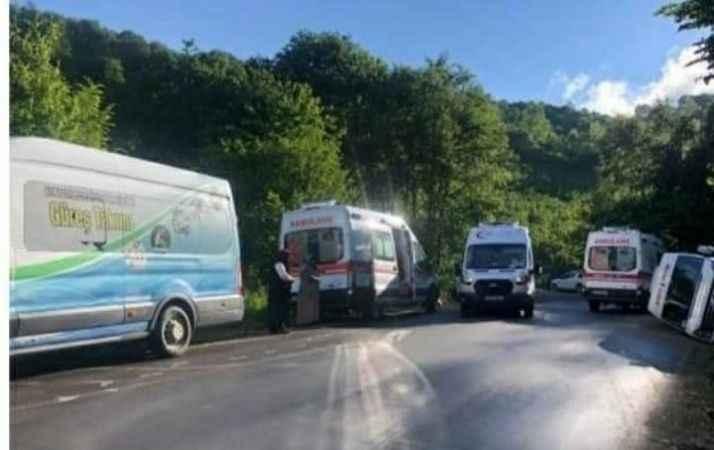 Tur minibüsü devrildi: 15 yaralı