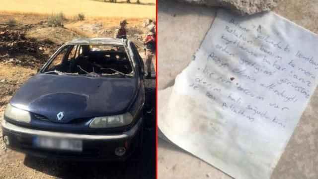 Ölümle biten araç yangınında ekipleri harekete geçiren not